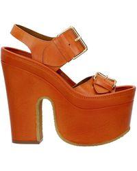 Stella McCartney Sandals Cowper Eco Leather - Orange