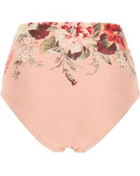 Zimmermann Cassia Bikini Bottom - Pink