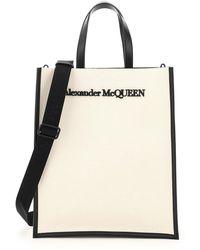 Alexander McQueen Canvas Tote Bag - Multicolour