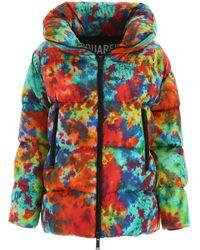 DSquared² Tie Dye Puffer Jacket - Multicolor