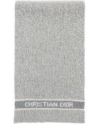 Dior D-white Scarf - Gray