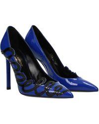 Saint Laurent Court Shoes Anja Women Blue