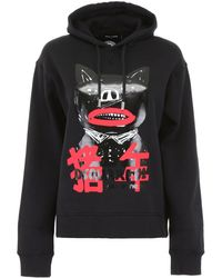 DSquared² Logo Graphic-print Hoodie - Black