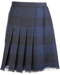 Dior Gingham Mini Skirt - Blue