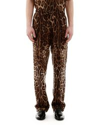 Dolce & Gabbana Leopard Pyjama Trousers - Brown