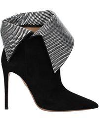Aquazzura Ankle Boots Night Fever Suede - Black