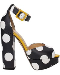 Charlotte Olympia Sandals Leather - Black