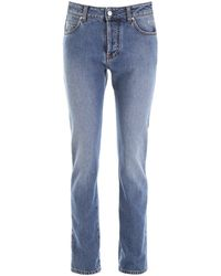 MSGM Broken Heart Jeans - Blue
