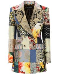 Dolce & Gabbana Dolce & Gabbana Double-breasted Patchwork Blazer - Multicolour
