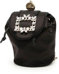 Roger Vivier Rv Broche Mini Backpack - Black