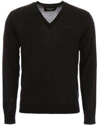 DSquared² V-neck Pullover - Black