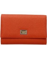 Dolce & Gabbana Wallets - Orange
