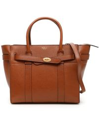 Mulberry Small Zipped Bayswater Tote Bag - Brown