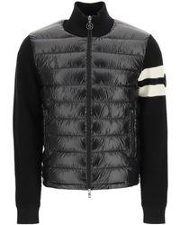 Moncler Basic Padded Knit Cardigan - Black
