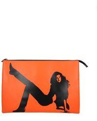 Calvin Klein Orange Clutches Est 1978
