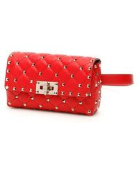 Valentino Garavani Rockstud Spike Beltbag - Red