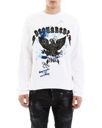 DSquared² Eagle Sweatshirt - White