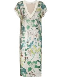 Agnona Floral Sequin Dress - Green