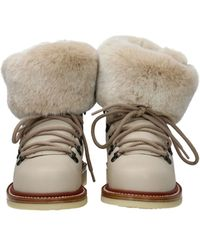 Loro Piana Ankle Boots Leather - Natural