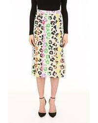 Essentiel Multicolor Leopard Print Skirt