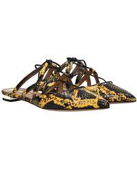 Aquazzura Slippers And Clogs Belgravia Leather - Multicolour