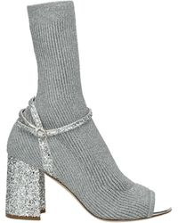 Miu Miu Ankle Boots Fabric - Metallic