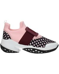 Roger Vivier Trainers Fabric Wine - Pink
