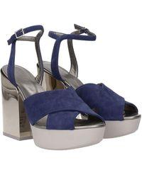 Hogan Sandals Suede - Blue