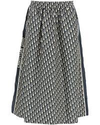Dior Oblique Midi Skirt - Black