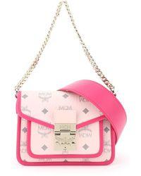 MCM Patricia Visetos Crossbody Bag - Pink