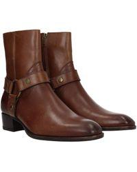 Saint Laurent Brown Ankle Boots Wyatt