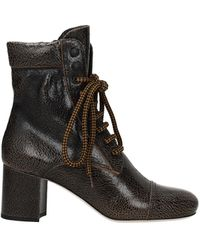 Miu Miu Ankle Boots Leather - Brown