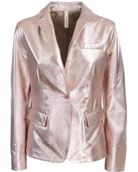 Unfleur - Jacket In Laminated Leather - Lyst
