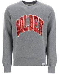 Golden Goose Deluxe Brand Archibald Sweatshirt With Sequins - Gray