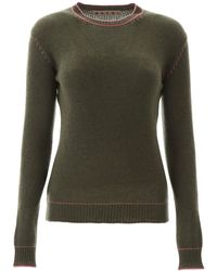 Marni Contrast-stitch Sweater - Green