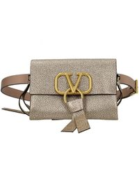 Valentino Garavani Backpacks And Bumbags Vring Leather - Metallic