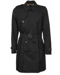 Burberry The Kensington Heritage Trench Coat - Black