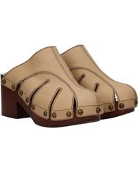 Chloé Beige Slippers And Clogs - Natural