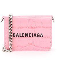 Balenciaga Cash Mini Micro Bag With Chain - Pink