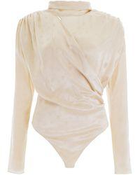 Magda Butrym Favara Bodysuit - Natural