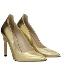 Pinko Court Shoes Leather - Metallic