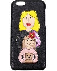 Dolce & Gabbana Dolce&gabbana Iphone Cover Leather - Black