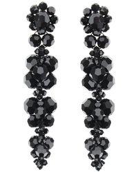 Simone Rocha Earrings With Crystals - Black