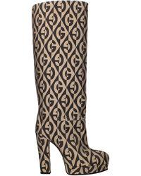 Gucci Boots Fabric - Natural
