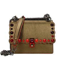 Fendi Crossbody Bag Kan I Women Gold - Multicolour