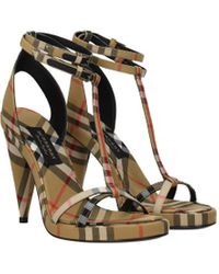 Burberry Beige Sandals - Natural