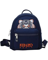 KENZO Blue Backpacks And Bumbags