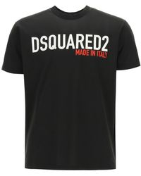 DSquared² Made In Italy Print T-shirt S Cotton - Black