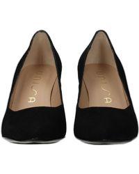 Unisa Court Shoes Taneli Suede - Black