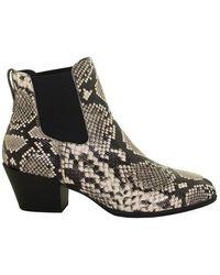 Hogan - Snakeskin-print Ankle Boots - Lyst